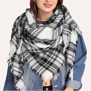 Accessories - NEW Oversized Plaid Square Scarf